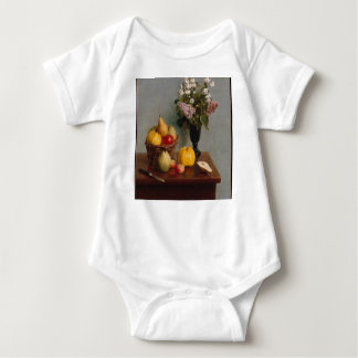 Still Life with Flowers and Fruit Baby Bodysuit
