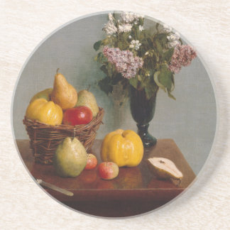 Still Life with Flowers and Fruit Coaster
