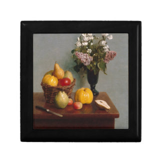 Still Life with Flowers and Fruit Gift Box