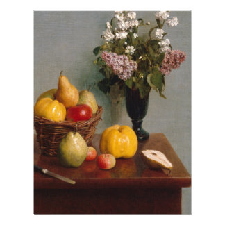 Still Life with Flowers and Fruit Letterhead