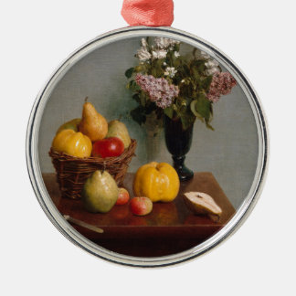 Still Life with Flowers and Fruit Metal Ornament
