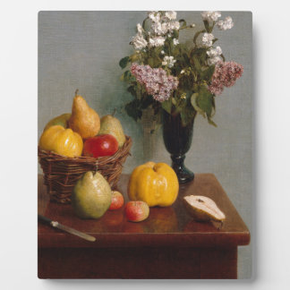 Still Life with Flowers and Fruit Plaque