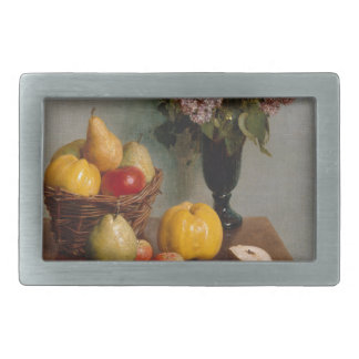 Still Life with Flowers and Fruit Rectangular Belt Buckle