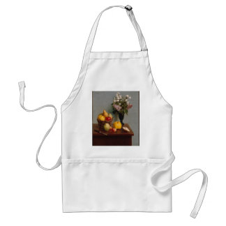 Still Life with Flowers and Fruit Standard Apron