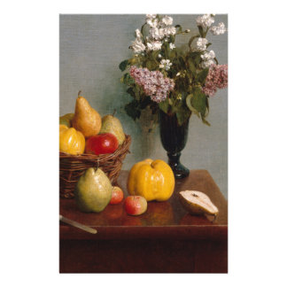 Still Life with Flowers and Fruit Stationery