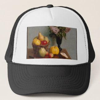 Still Life with Flowers and Fruit Trucker Hat