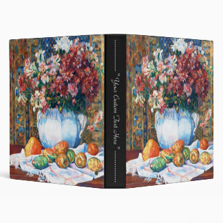 Still Life with Flowers and Prickly Pears Renoir Vinyl Binder