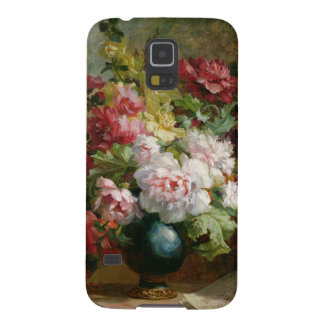 Still life with flowers and sheet music case for galaxy s5