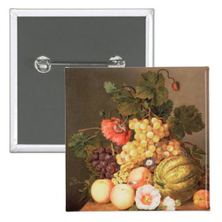 Still life with fruit 2 inch square button