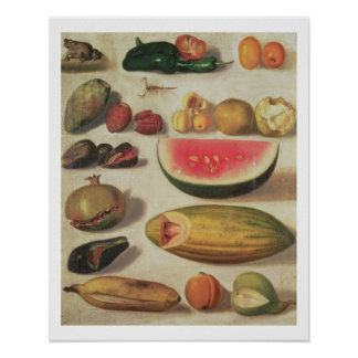 Still Life with Fruit and Toad Poster