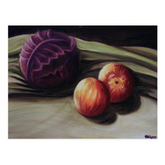 Still Life with Fruit and Veg Postcard