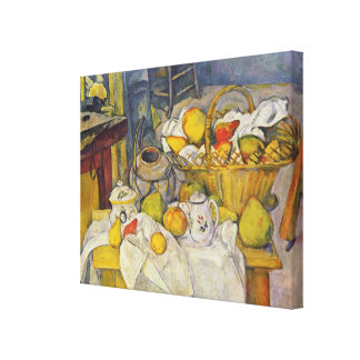 Still Life With Fruit Basket by Paul Cezanne Canvas Print