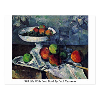 Still Life With Fruit Bowl By Paul Cezanne Postcard