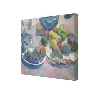 Still Life With Fruits by Paul Gauguin Canvas Print