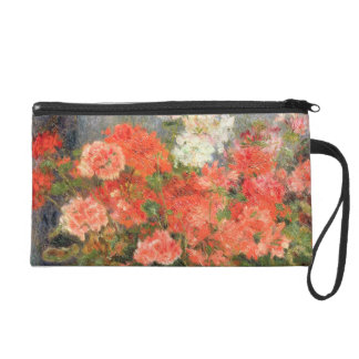 Still life with geraniums in a bronze bowl, 1880 wristlet purses