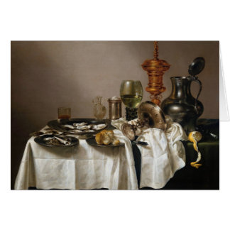 Still life with gilt goblet - Willem Claesz. Heda Card