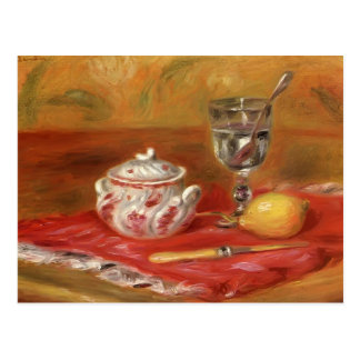 Still LIfe with Glass and Lemon by Pierre Renoir Postcard
