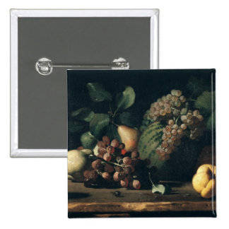 Still Life with Grapes and Pomegranate 2 Inch Square Button