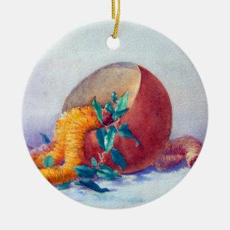 Still Life with Ilima Lei and Coconut Ceramic Ornament