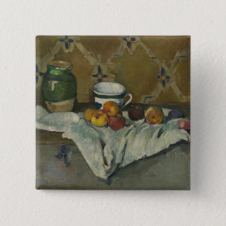 Still Life with Jar, Cup, and Apples 2 Inch Square Button