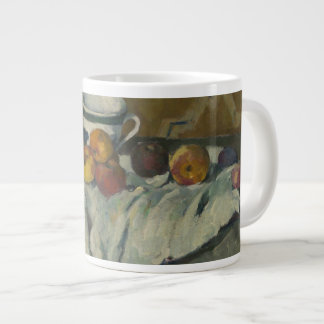 Still Life with Jar, Cup, and Apples Large Coffee Mug