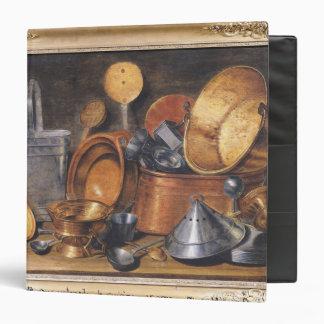 Still Life with Kitchen Utensils 3 Ring Binder