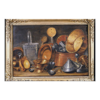 Still Life with Kitchen Utensils Poster