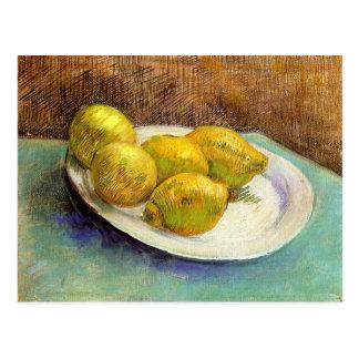 Still Life with Lemons on a Plate Postcard