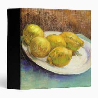 Still Life with Lemons on a Plate Vinyl Binder