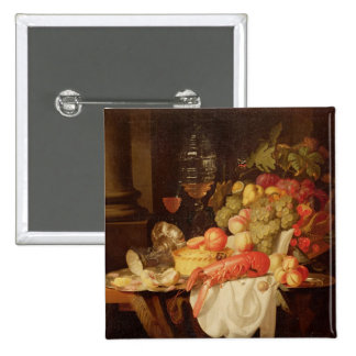Still Life with Lobster 2 Inch Square Button