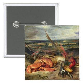 Still Life with Lobsters, 1826-27 2 Inch Square Button