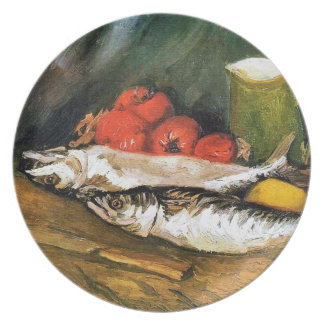 Still Life with Mackerels, Lemons and Tomatoes Dinner Plate