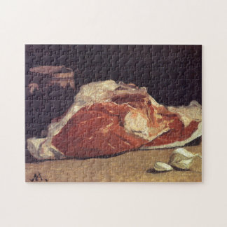 Still Life with Meat Monet Fine Art Jigsaw Puzzle