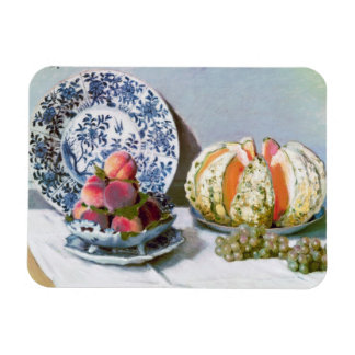 Still Life with Melon, 1872 Claude Monet Rectangular Photo Magnet