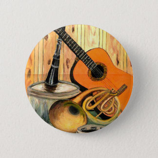 Still Life with Musical Instruments 2 Inch Round Button