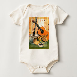 Still Life with Musical Instruments Baby Bodysuit