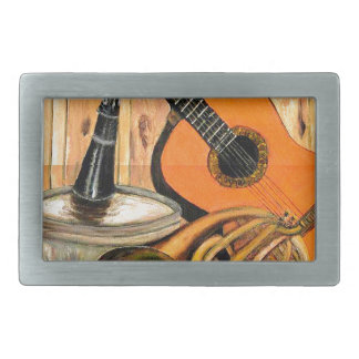Still Life with Musical Instruments Belt Buckles