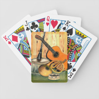 Still Life with Musical Instruments Bicycle Playing Cards