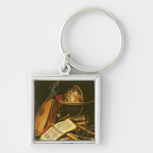 Still Life with Musical Instruments Keychain