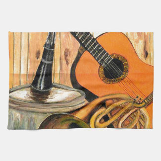Still Life with Musical Instruments Kitchen Towel