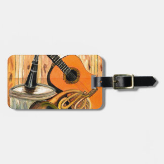Still Life with Musical Instruments Luggage Tag