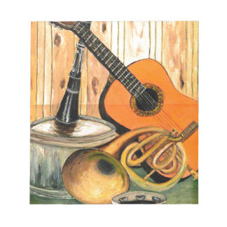 Still Life with Musical Instruments Notepads