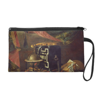 Still Life with Musical Instruments (oil on canvas Wristlet Purse