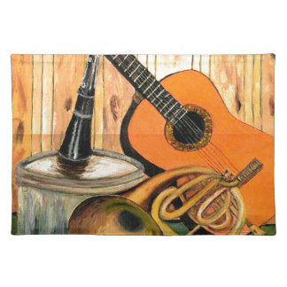 Still Life with Musical Instruments Placemats