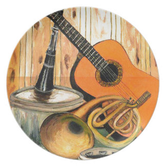 Still Life with Musical Instruments Plate