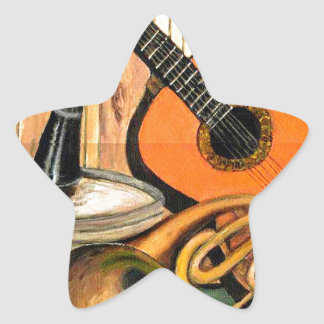 Still Life with Musical Instruments Star Sticker