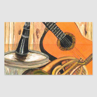 Still Life with Musical Instruments Sticker