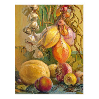 Still Life With Onions - Antonio Sicurezza Postcard
