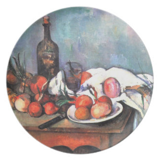 Still Life with Onions by Cezanne Plate