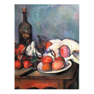 Still life with onions - Paul Cézanne Postcard